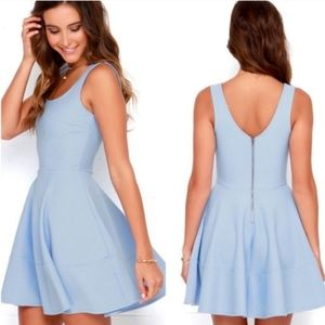 Lulus Home Before Daylight Periwinkle Dress